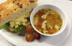 chicken noodle and egg salad