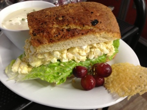 Tuna & Egg Salad with Creamy Turkey RIce soup