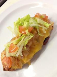 Ham & Cheddar Melt Canape