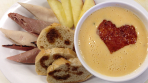 Beer & Cheddar Soup with cold cuts