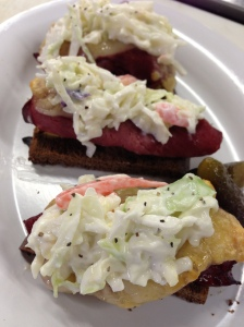 Corned Beef & Coleslaw Canape