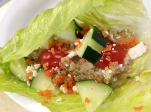 Quinoa lettuce wrap
