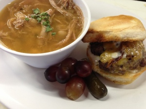 Pork & Bean Soup and Slider