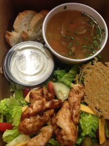 Navy Bean soup & BBQ Chicken Salad