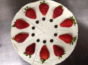 Brownie Strawberry Cheesecake