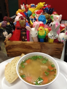 turkey Rice soup and Pez collection