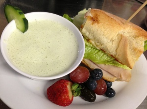 Chilled Cucumber Soup & Annies Melt