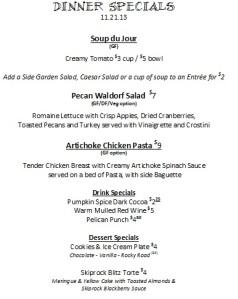 dinner menu 11.21