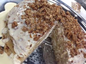 Nocino Maple Nut Crepe Cake