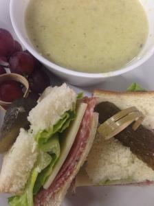 Creamy Asparagus Soup & Sandwich