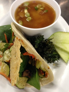 Raosted Veggie Taco & Beef, Bean & Bacon Soup