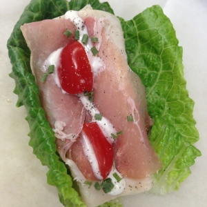 Proscuitto & Turkey Lettuce Cup