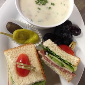Chowder & Salami Sandwich