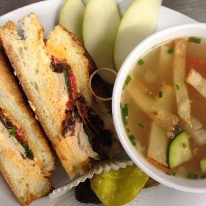 Tortiall Soup & Roasted Pepper Sub
