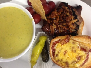 BBQ Beef SLider & Chilled Asparagus Soup