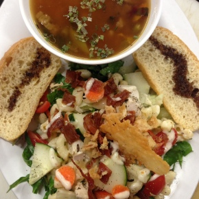 Loaded Ceaser Salad w/ Minestrone