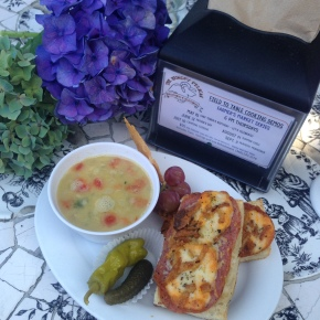 Salami Cheddar Melt and Lentil Soup