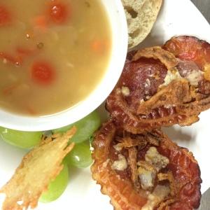 CHicken Chili & Bacon Artichoke Canape