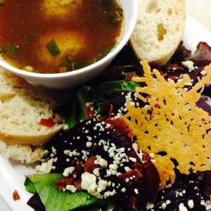 Beet Salad & Italian Meatball Soup