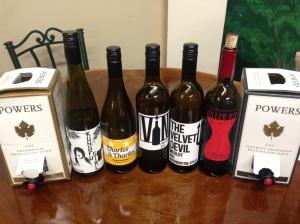 Current WA Wine Selection