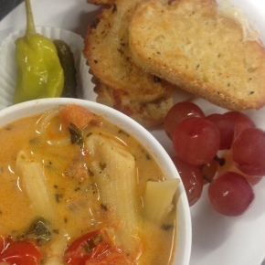 Tomato Primavera Soup & Grilled Cheese