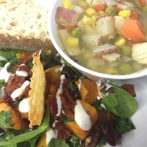 Butternut Squash Salad & Chicken Veggie Soup