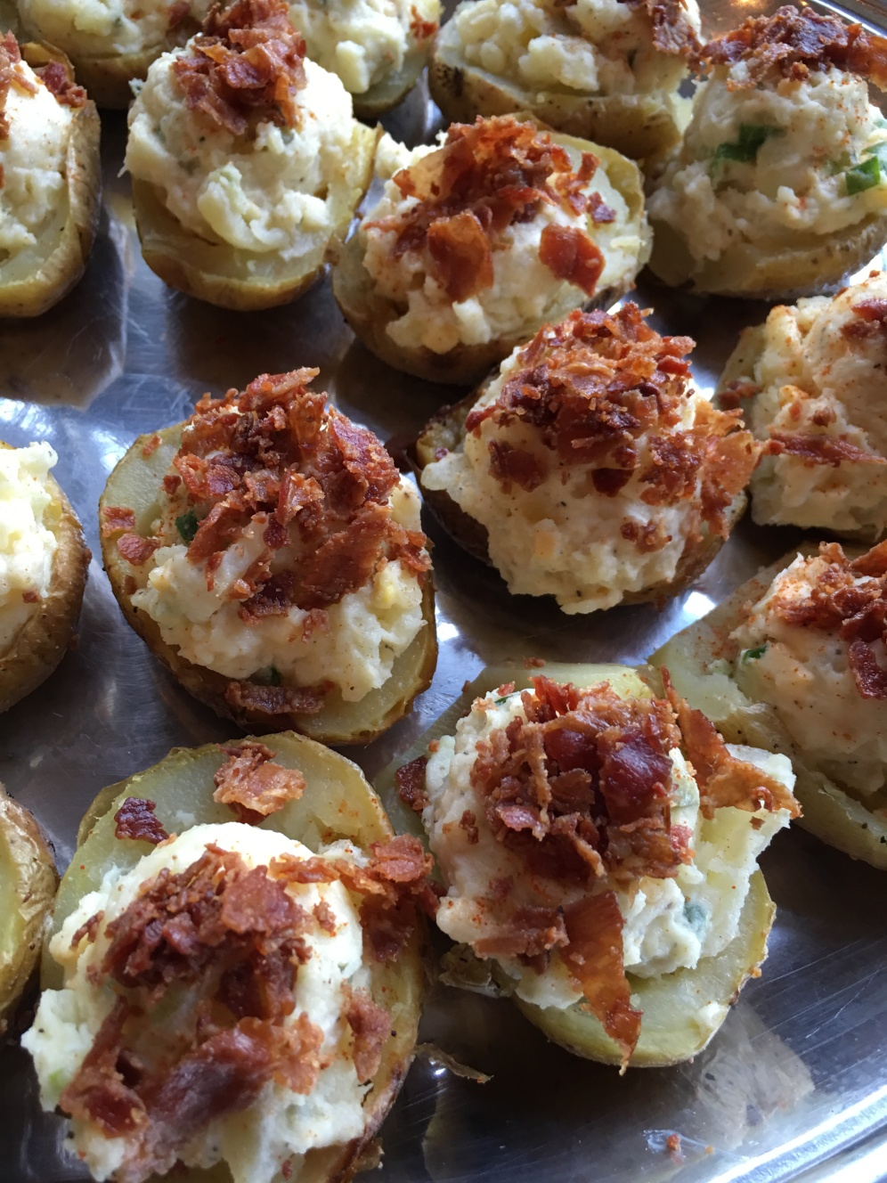 Petit Potato Salads with Whiskey Bacon Crumble