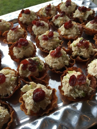 Chicken Apple Bacon Cups with Drunken Cranberries (using Skip Rock Apple Liquor)